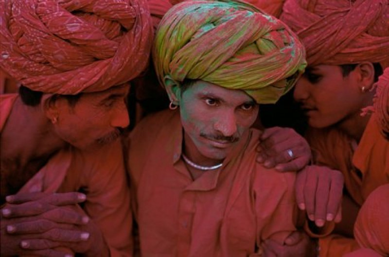 Villagers Participating in Holi Festival
